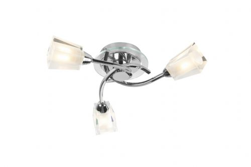 Austin 3-light Polished Chrome Semi Flush Ceiling Light (825514) AUS0350